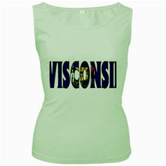 Wisconsin Womens  Tank Top (green)