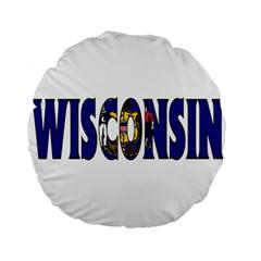 Wisconsin 15  Premium Round Cushion