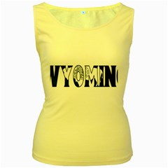 Wyoming Womens  Tank Top (Yellow)