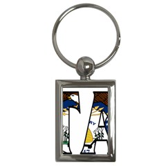 Utah Key Chain (rectangle)