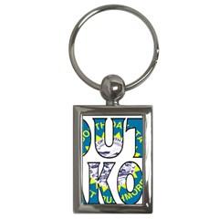 South Dakota Key Chain (rectangle)
