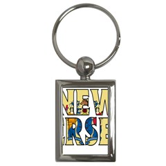 New Jersey Key Chain (Rectangle)