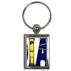 Indiana Key Chain (Rectangle)
