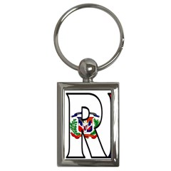 Florida Dominican Republic Key Chain (Rectangle)