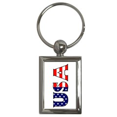 Usa Key Chain (rectangle)