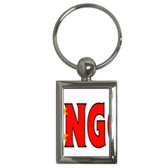 China2 Key Chain (Rectangle)