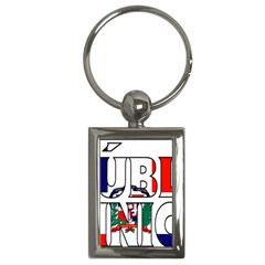 Dominican Key Chain (rectangle)