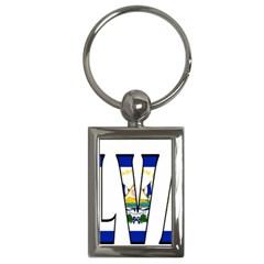 El Salvador Key Chain (rectangle)