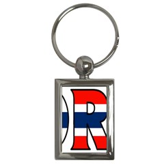 Norway Key Chain (Rectangle)