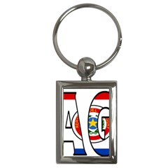 Paraguay Key Chain (rectangle)