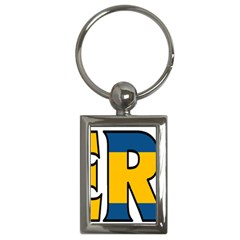 Sweden Key Chain (rectangle)