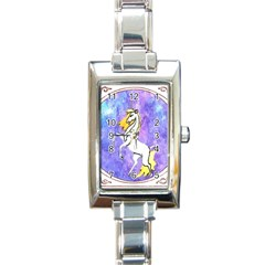 Framed Unicorn Rectangular Italian Charm Watch