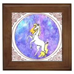 Framed Unicorn Framed Ceramic Tile