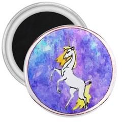 Framed Unicorn 3  Button Magnet