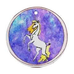 Framed Unicorn Round Ornament