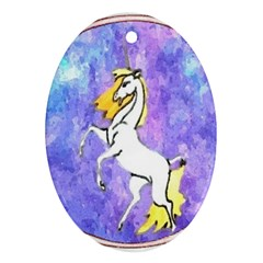 Framed Unicorn Oval Ornament