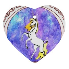 Framed Unicorn Heart Ornament