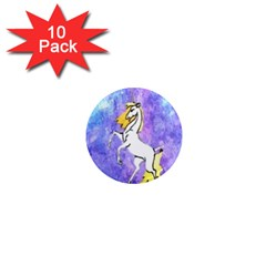 Framed Unicorn 1  Mini Button Magnet (10 Pack)