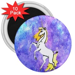 Framed Unicorn 3  Button Magnet (10 Pack)