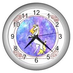 Framed Unicorn Wall Clock (silver)