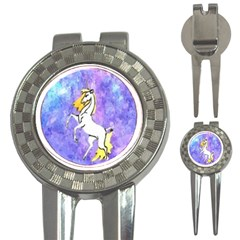 Framed Unicorn Golf Pitchfork & Ball Marker