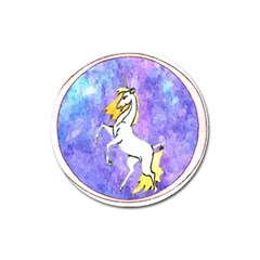 Framed Unicorn Magnet 3  (Round)