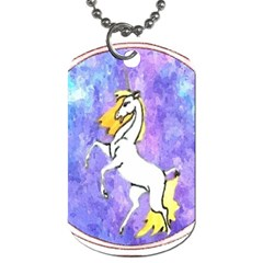 Framed Unicorn Dog Tag (One Sided)