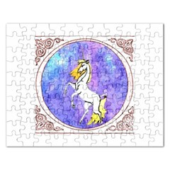 Framed Unicorn Jigsaw Puzzle (Rectangle)