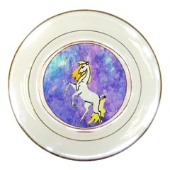 Framed Unicorn Porcelain Display Plate