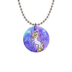 Framed Unicorn Button Necklace