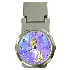 Framed Unicorn Money Clip with Watch