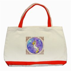 Framed Unicorn Classic Tote Bag (Red)