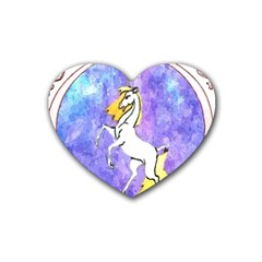 Framed Unicorn Drink Coasters 4 Pack (Heart)