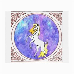 Framed Unicorn Glasses Cloth (small, Two Sided)