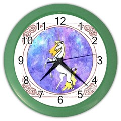Framed Unicorn Wall Clock (color)