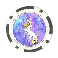 Framed Unicorn Poker Chip