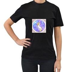Framed Unicorn Womens' T-shirt (Black)