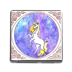 Framed Unicorn Memory Card Reader with Storage (Square)
