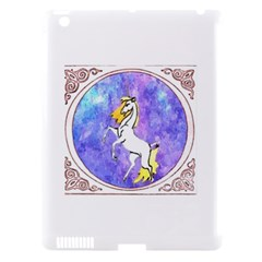 Framed Unicorn Apple iPad 3/4 Hardshell Case (Compatible with Smart Cover)