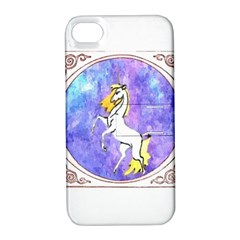 Framed Unicorn Apple iPhone 4/4S Hardshell Case with Stand