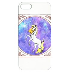 Framed Unicorn Apple iPhone 5 Hardshell Case with Stand