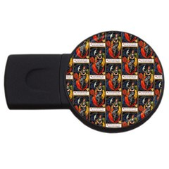 Halloween Vintage 2GB USB Flash Drive (Round)
