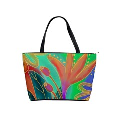 Abstract Floral Large Handbag