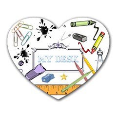 STATIONERY COLLAGE Mouse Pad (Heart)