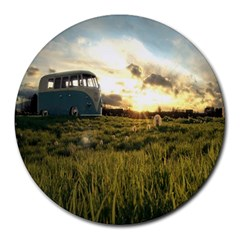 April Store 8  Mouse Pad (Round)