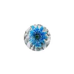 Blue 1  Mini Button Magnet