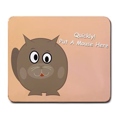 Hyngry Cat 1 Large Mouse Pad (Rectangle)