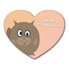 Hyngry Cat 1 Mouse Pad (Heart)