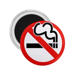 No Smoking 2.25  Button Magnet