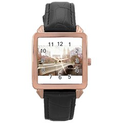 581163 10151851386387103 949252325 N Rose Gold Leather Watch